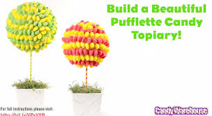 Lollipop Topiary How To Build A Beautiful Pufflette Candy Topiary Youtube