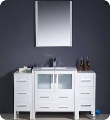 54 Inch Bathroom Vanity Single Sink Fresca Torino Single 54 Inch Modern Bathroom Vanity White With