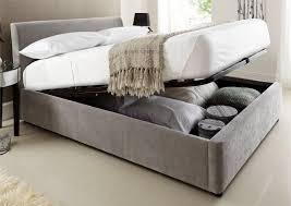 kaydian walkworth oatmeal fabric ottoman storage bed double inside