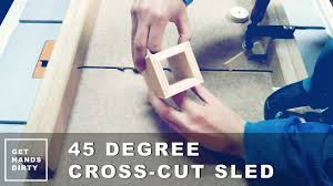 how to cut angles in front corners of hair create perfect mitered corners with 45 degree cross cut sled youtube