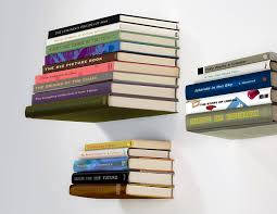 exciting white floating bookshelves pictures decoration
