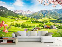 3d room wallpaper custom photo mural outdoor green view tv wall