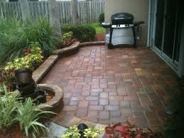 Small Patio Pictures by Paver Patio In A Small Space Brick Bordered Planting Areas