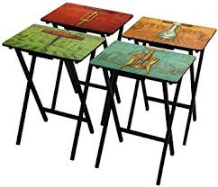 tv tray tables amazon amazon com oriental furniture vineyards of france tv tray set with