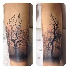 tree wrist band cool tattoos minimal