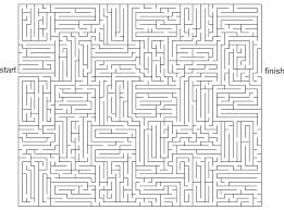coloring mesmerizing maze game printable hard coloring