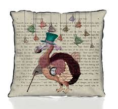 dodo alice in wonderland cushion by fabfunky home decor