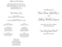 sle of wedding programs ceremony wedding program wedding ideas 2018