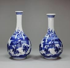 Large Chinese Vases Chinese Kangxi Blue And White Porcelain