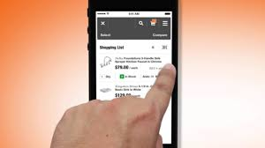 shopping home the home depot mobile app shopping list youtube