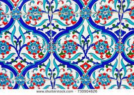 Ottoman Tiles Ancient Made Turkish Ottoman Tiles Stock Photo 730904626