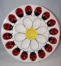 egg plates deviled egg plate ladybugs large platter ladybug