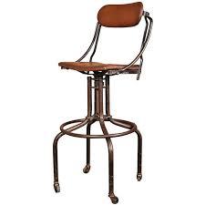 rustic industrial bar stools amazing vintage industrial adjustable back bar stool at 1stdibs