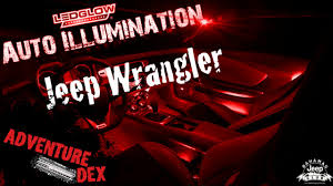 jeep wrangler unlimited interior lights jeep wrangler interior neon lights ledglow interior kit youtube