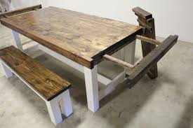 country kitchen table with bench 64 most skookum farmhouse dining table with bench rustic furniture