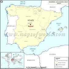 madrid spain map where is madrid location of madrid in spain map