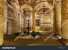 Romanesque Interior Design Rich Interior Palazzo Vecchio Old Palace Stock Photo 134752166
