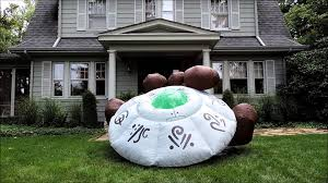 Blow Up Lawn Decorations Alien Saucer Halloween Inflatable By Morbid Youtube