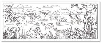 Coloriage dune fresque savane africaine  coloriage savane Tête à