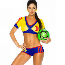 aliexpress com buy colombia cheerleader costume soccer