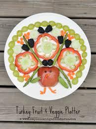 turkey fruit and veggie platter