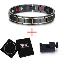 man magnetic bracelet images Vnox black men 39 s magnetic bracelet for man apexbooth jpg