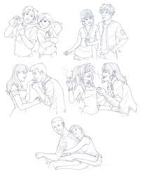 couples sketch commishes by amyclark on deviantart