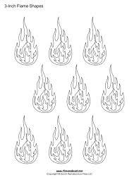 drawn flame stencil pencil and in color drawn flame stencil