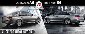 audi s6 vs audi sedan model comparisons naperville il