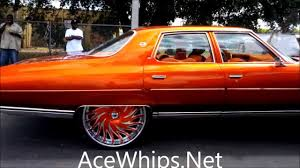 acewhips net candy tangerine 4 door chevy donk on 26