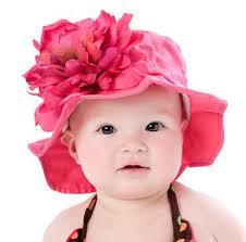 royal raspberry flower baby sun hat flower hats
