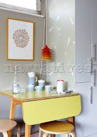 retro yellow kitchen table yellow formica table on vintage design seeur