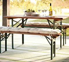 folding table with bench amazing folding patio table set beautiful dining incredible with