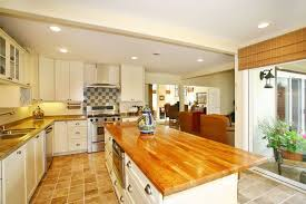 eclectic kitchen with butcher block island u0026 l shaped in carlsbad