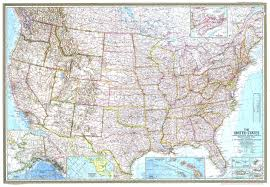 United States Interstate Map by 1968 United States Map Historical Maps