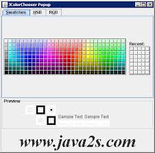 color selection listening to color selection changes jcolorchooser swing java