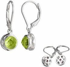 s birthstone earrings jewelry silver genuine peridot august birthstone earrings