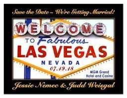 Save The Date Signs Save The Date Las Vegas Magnets Magnetqueen