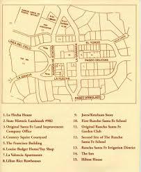 Santa Fe Map Guided Group Tours Rancho Santa Fe Historical Society