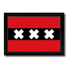 amsterdam city netherlands country flag home decor office wall art