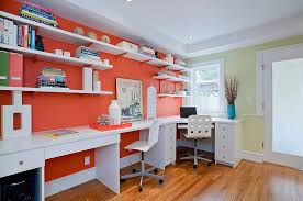 Trending Colors For Home Decor Trend 25 Vibrant Home Offices With Bold Orange Brilliance