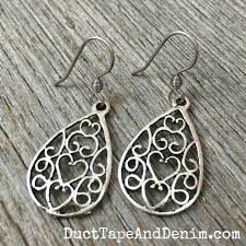 duct earrings diy filigree earrings