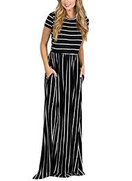 maxi dress with sleeves hotapei women s summer casual striped dress