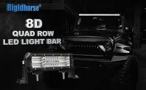 amazon com rigidhorse 9inch 180w quad row led light bar spot