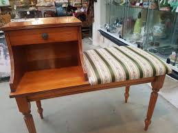 Antique Telephone Bench 039 Yew Wood Telephone Table Sold Grandad U0027s Attic