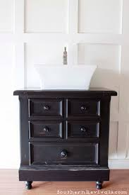 How To Make A Bathroom Sink Skirt by Turning Our Nightstand Into Our Bathroom Vanity Americana Decor
