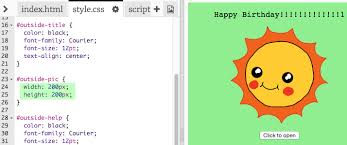 text birthday card happy birthday code club