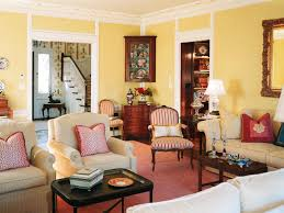 Brown And Yellow Living Room by Living Room Chic French Country Living Room Design With Brown