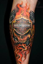 flames harley davidson tattoo design in 2017 real photo pictures