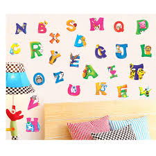 Online Get Cheap Alphabet Wall Stickers For Kids Aliexpresscom - Cheap wall decals for kids rooms